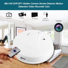 Smoke Detector Style Motion Detection Card Slot Se White one size