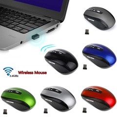 Wireless Gaming Mouse 1200DPI 2.4GHz Optical USB R Red one size
