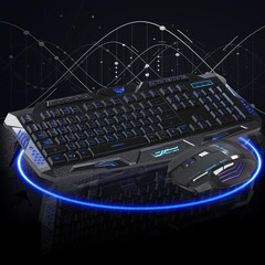 Home Backlight Optical USB Wired Game Mouse Keyboa Black one size