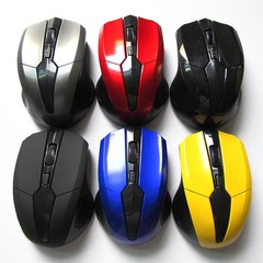 2.4GHz Wireless Optical Mouse Mice with USB 2.0 Re Black one size