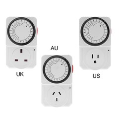Digital Electronic Plug-in Programmable Timer Swit White EU plug