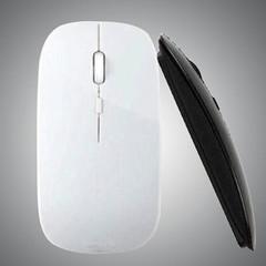 2.4 GHz Slim Optical Wireless Mouse Mice + USB Rec Black one size