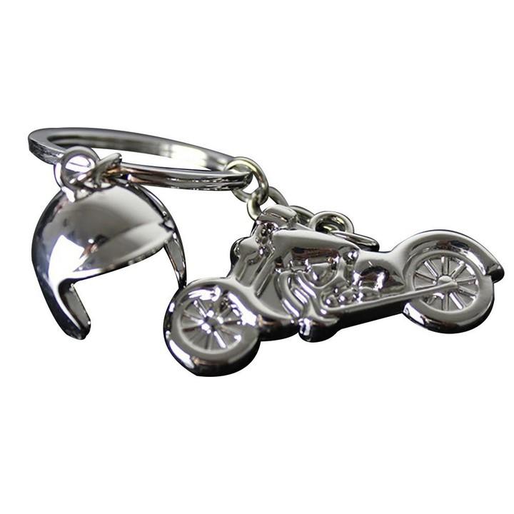 Motorcycle Helmet Pendant Charms Clasp Handbag Key Silver one size