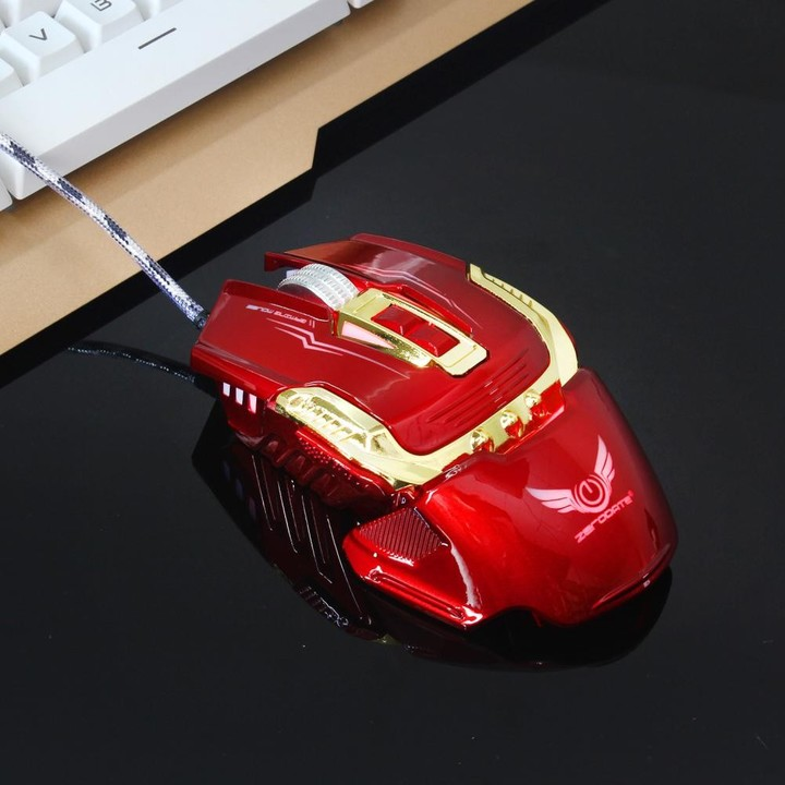 Stylish 3200DPI Optical USB Wired Gaming Mouse wit Black one size