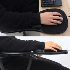 Computer Elbow Arm Rest Support Chair Desk Armrest Black one size
