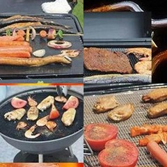 1Pc Nonstick BBQ Oven Liner Grill Mat Foil Barbecu one color one size