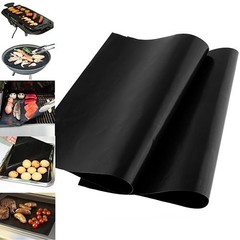 Reusable Portable BBQ Grill Mat/Cooking Clamp Outd one color one size