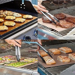 Outdoor BBQ Teflon Grill Mat Barbecue Non-Stick He one color one size