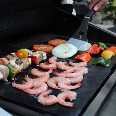 2Pcs Outdoor BBQ Grill Mats Bake Cook Non-Stick Re one color one size