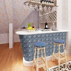18Pcs 3D DIY PVC Mosaic Waterproof Kitchen Bar Cou one color one size