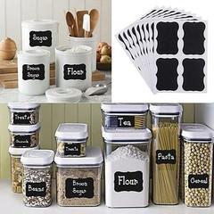 36Pcs Blackboard Chalk Board Stickers Craft Jar La one color one size