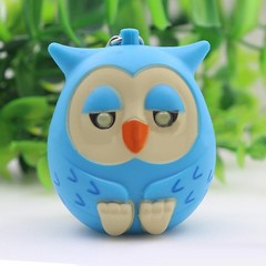Fashion Cute Owl LED Eye Keychain with Sound Chris Pink one size