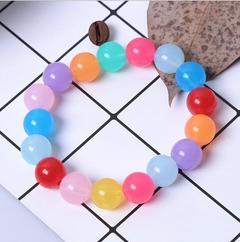 Bracelet, colored candy beads, bracelet, kid. Jell-O 24Piece  8millimetre