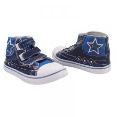 High-Top Bata bubble Gummers canvas Rubber shoes Navy blue 3