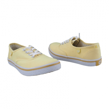 Stylish Canvas Northstar Rubber Shoes By Bata 5398002 Yellow 4