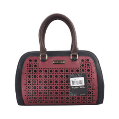 Marie Claire Multiple Compartments Ladies Handbag- Black and Red (9806560)