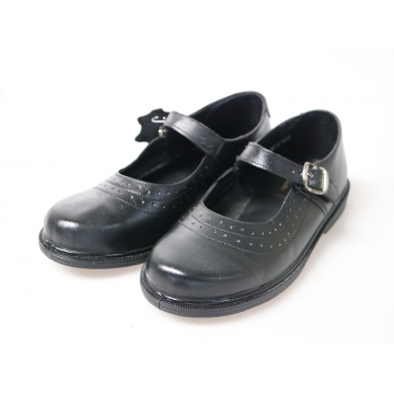 Bata Toughees Stylish Girls' Velcro School Shoes black 1