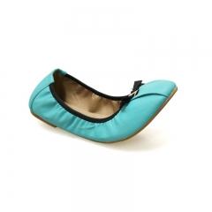 Bata Flexible Doll Shoe with Ribbon Design 551-9009 green 37