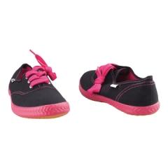 Tomy Takkies Ladies Casual Canvas shoe- 539-6563 black/fuchsia 3