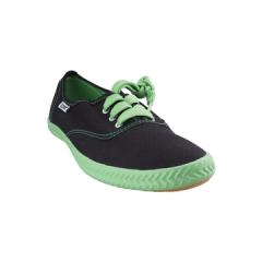 Tomy Takkies Ladies Casual Canvas shoe - 539-6763 black/green 3