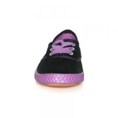 Tomy Takkies Ladies Casual Canvas shoe- 539-0163 black/purple 3