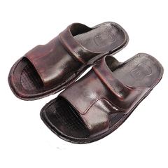 Bata Men Scorpio Brush-off sandals (872-4616) brown 41