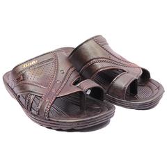 Bata  Zipper Brush-off Men plastics sandals (872-4650) brown 41
