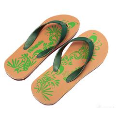 BATA Mens Patapata Leather Look thongs (877-7103) Pink Green 42
