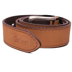 Mens Safari Belt Tan (Men Belts) (970-3019) brown 40