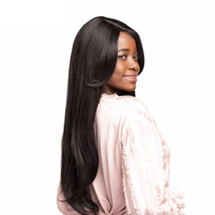 Wig Black Synthetic Wig Long Straight Hair Wigs for Black Women High Temperature Fiber black black one size