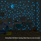 12Pcs/Bag Luminous Meteor Decal Glowing Fluorescent 3D Wall Stickers Home Decor Blue One Size