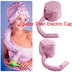 Hair Perm Dryer Nursing Dye Hairs Modelling Warm Air Drying Treatment Cap Safer Than Electric Cap Black One Size