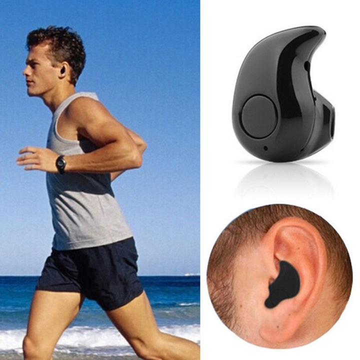 Business Bluetooth Earphone Wireless Sports Headphones with MIC Call Earbuds for Smart Phones black