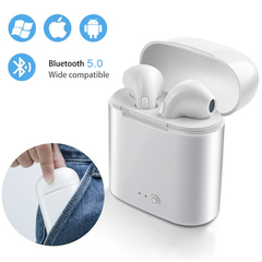 Bluetooth Wireless Stereo Sport Headphones with MIC In Ear Super Bass Subwoofer Earbuds Earphones white