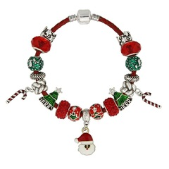 Women Fashion Pandora Beads Bracelet Charms Lovely Father Christmas ChristmasTree Xmas Gift multicolor 18cm