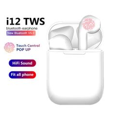 i12 TWS Airpod Bluetooth Earphones Wireless Earbud iPhone Samsung Tecno Android Ear Pods Stereophone white