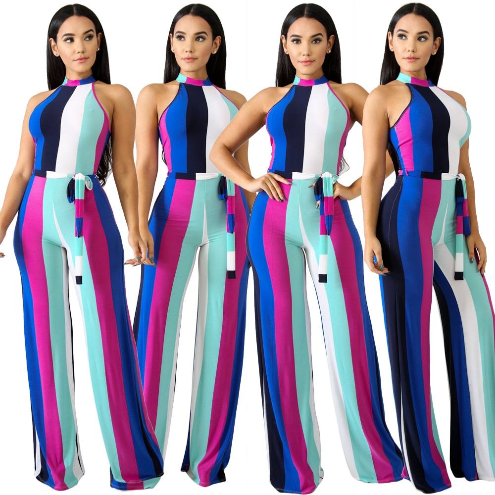 257482adfb2f Women s sexy jumpsuits Loose Sleeveless jumpsuit Club get-together ...