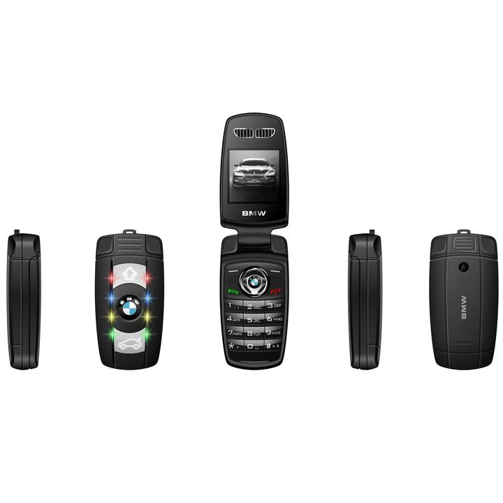 "Ulcool X6,1.44"" 1:1 Car Key Size One- click shot Camera Colorful Lights Bluetooth Flip Mobile Phone Black"