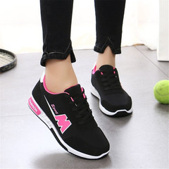 Summer Sneakers Women Breathable Mesh Running Shoes Ladies Sport Outdoor Walking Shoes black 36