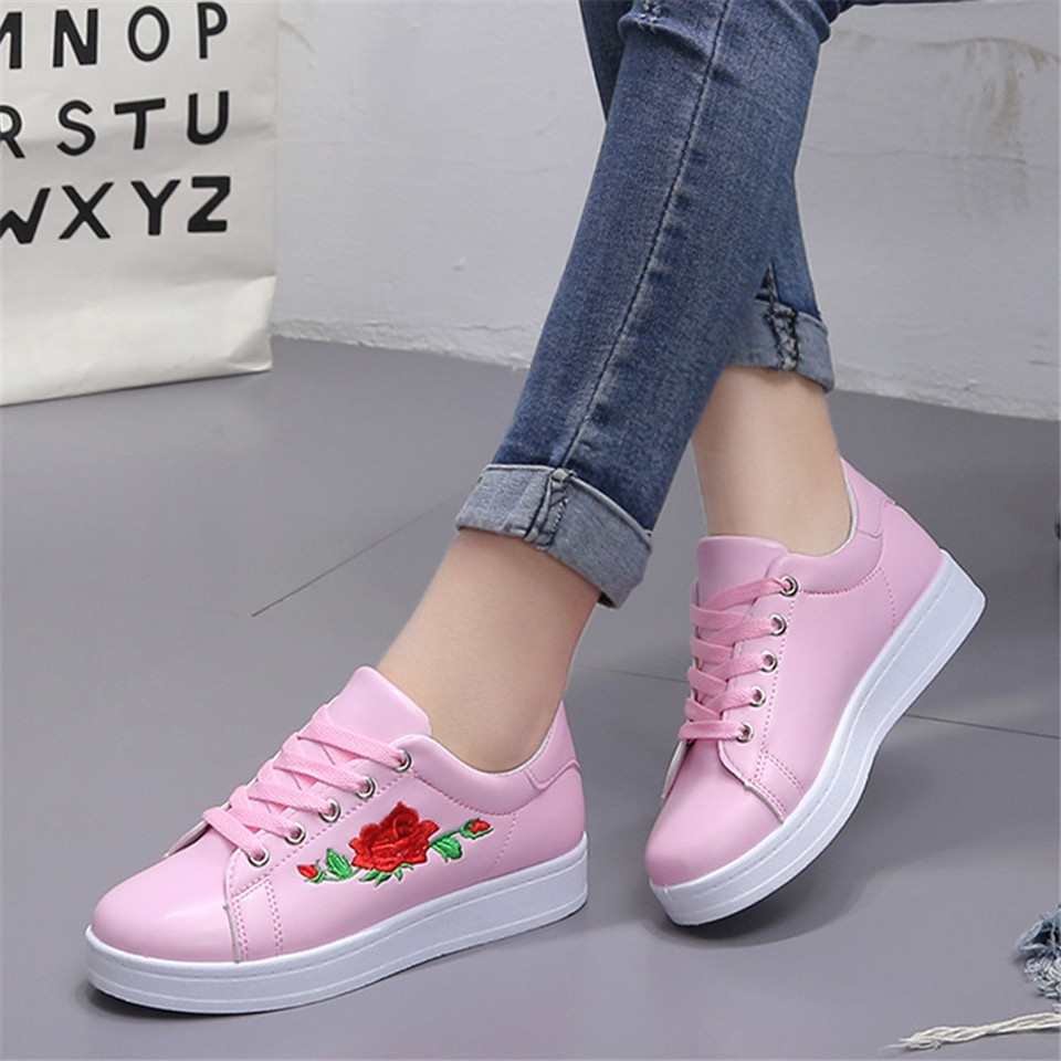 2a38ce2e3 Women Casual Athletic Flower Embroidery Trendy Loafers Fashion Sneakers  Ladies Platform Shoes pink 36: Product No: 10349434. Item specifics: Brand: