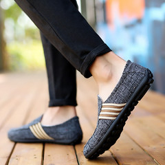 Men Casual Loafers Rubber Flat Breathable Fashion Sneakers Comfortable Non-slip Soft Mesh Shoes grey01 40