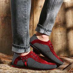 Men's Fashion Loafers Slip On Casual Shoes Light And Comfortable Lazy Shoes Driving Shoes blue 45
