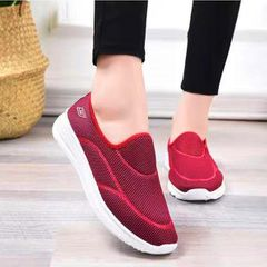 Soft bottom Breathable Sneakers Non-slip Shoes Comfortable Casual Ladies Shoes red 39