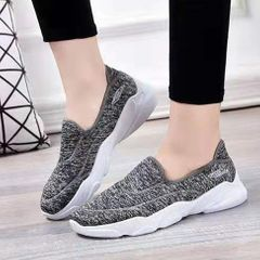 Casual Ladies Shoes Non-slip Shoes Comfortable Soft bottom Breathable Sneakers grey 37