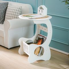 European Style Furniture Small Round Table Living Room Mini Coffee Table Bedside Table 白色36 * 47CM