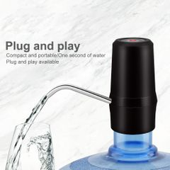 Portable USB Rechargeable Drinking Water Bottle Electric Water Pump Wireless Water Dispenser Black