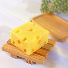 Cheese Sea Salt Cheese De-mite Soap Acne Moisturizing Oil Control Student Cleansing Soap yellow one size