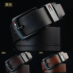 Buckle Belt Waistband Fashion Casual Leather  Belts Men's Fashion Accessories Belt black one size (125cm)