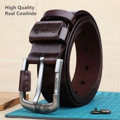 Men's fashion pure cowhide belt Special promotion Until we're sold out 03 coffee one size (125cm)