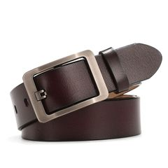 Men's fashion pure cowhide belt Special promotion Until we're sold out 02 coffee one size (125cm)